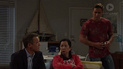 Paul Robinson, Kim Tanaka, Aaron Brennan in Neighbours Episode 7573