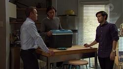 Paul Robinson, Leo Tanaka, David Tanaka in Neighbours Episode 7573