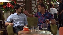 David Tanaka, Aaron Brennan in Neighbours Episode 7574
