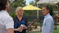 Brad Willis, Lauren Turner, Paul Robinson in Neighbours Episode 7574