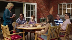 Lauren Turner, Brad Willis, Susan Kennedy, Paige Novak, Karl Kennedy, Jack Callaghan in Neighbours Episode 7575