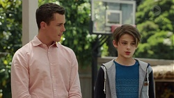 Jack Callaghan, Brandon Henley in Neighbours Episode 7575