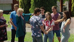 Sheila Canning, Gary Canning, Lauren Turner, Brad Willis, Ben Kirk, Piper Willis, Tyler Brennan, Paige Novak in Neighbours Episode 7575