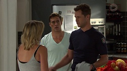 Steph Scully, Aaron Brennan, Mark Brennan in Neighbours Episode 7578