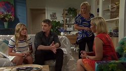 Xanthe Canning, Gary Canning, Sheila Canning, Brooke Butler in Neighbours Episode 7578