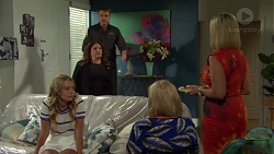 Gary Canning, Terese Willis, Xanthe Canning, Sheila Canning, Brooke Butler in Neighbours Episode 7579