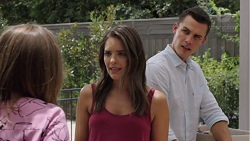 Piper Willis, Paige Novak, Jack Callaghan in Neighbours Episode 7579