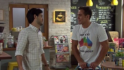 David Tanaka, Aaron Brennan in Neighbours Episode 7580