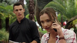 Jack Callaghan, Amy Williams in Neighbours Episode 7580