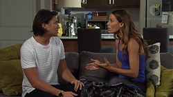 Leo Tanaka, Elly Conway in Neighbours Episode 7580