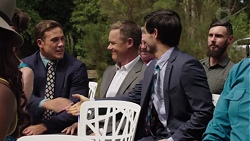 Aaron Brennan, Paul Robinson, David Tanaka in Neighbours Episode 7580
