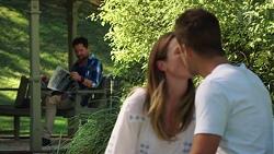 Shane Rebecchi, Sonya Mitchell, Mark Brennan in Neighbours Episode 7581