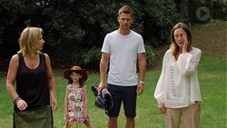 Steph Scully, Nell Rebecchi, Mark Billings, Sonya Rebecchi in Neighbours Episode 7582