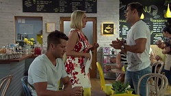 Mark Brennan, Brooke Butler, Aaron Brennan in Neighbours Episode 7583