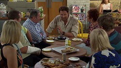 Brooke Butler, Toadie Rebecchi, Karl Kennedy, Shane Rebecchi, Susan Kennedy, Gary Canning, Sheila Canning in Neighbours Episode 7584