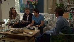 Amy Williams, Paul Robinson, David Tanaka, Jimmy Williams in Neighbours Episode 7585