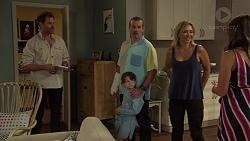 Shane Rebecchi, Toadie Rebecchi, Nell Rebecchi, Steph Scully, Paige Novak in Neighbours Episode 7585