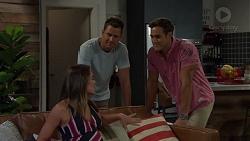 Paige Novak, Mark Brennan, Aaron Brennan in Neighbours Episode 7585