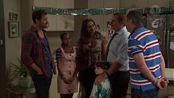 Shane Rebecchi, Kirsha Rebecchi, Dipi Rebecchi, Nell Rebecchi, Toadie Rebecchi, Karl Kennedy in Neighbours Episode 7586