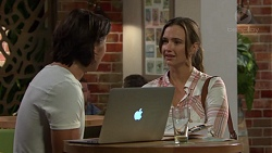 Leo Tanaka, Amy Williams in Neighbours Episode 7586