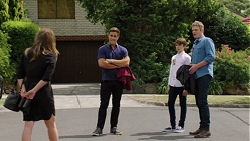 Amy Williams, Aaron Brennan, Jimmy Williams, Gary Canning in Neighbours Episode 7587