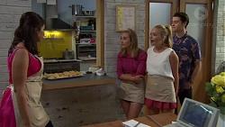 Dipi Rebecchi, Piper Willis, Xanthe Canning, Ben Kirk in Neighbours Episode 7587