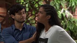 David Tanaka, Yashvi Rebecchi in Neighbours Episode 7587