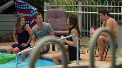 Paige Novak, Mark Brennan, Elly Conway, Finn Kelly in Neighbours Episode 7587