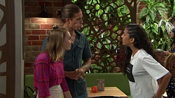 Piper Willis, Tyler Brennan, Yashvi Rebecchi in Neighbours Episode 7587