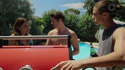 Elly Conway, Finn Kelly, Tyler Brennan in Neighbours Episode 7587