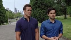 Aaron Brennan, David Tanaka in Neighbours Episode 7587