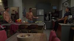 Tyler Brennan, Mark Brennan, Aaron Brennan in Neighbours Episode 7588