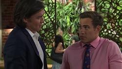 Leo Tanaka, Aaron Brennan in Neighbours Episode 7588