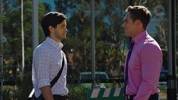 David Tanaka, Aaron Brennan in Neighbours Episode 7588