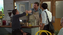 Paul Robinson, Shane Rebecchi, David Tanaka in Neighbours Episode 7590