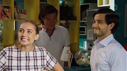 Piper Willis, Leo Tanaka, David Tanaka in Neighbours Episode 7591