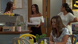 Dipi Rebecchi, Mishti Sharma, Amy Williams, Yashvi Rebecchi in Neighbours Episode 7591