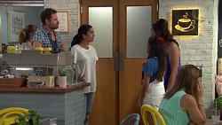 Shane Rebecchi, Yashvi Rebecchi, Kirsha Rebecchi, Dipi Rebecchi in Neighbours Episode 7591