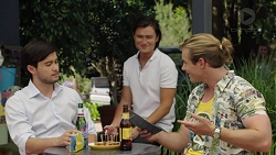 David Tanaka, Leo Tanaka, Jacob Von-Blum in Neighbours Episode 7591