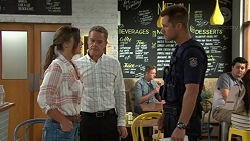 Amy Williams, Paul Robinson, Mark Brennan in Neighbours Episode 7592