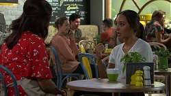 Dipi Rebecchi, Sonya Mitchell, Mishti Sharma in Neighbours Episode 7592