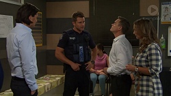 Leo Tanaka, Mark Brennan, Paul Robinson, Amy Williams in Neighbours Episode 7593