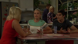 Brooke Butler, Xanthe Canning, Gary Canning, Sheila Canning, Ben Kirk in Neighbours Episode 7594
