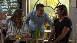 Amy Williams, Jack Callaghan, Leo Tanaka in Neighbours Episode 7597