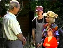 Len Mangel, Michael Martin, Helen Daniels in Neighbours Episode 2109