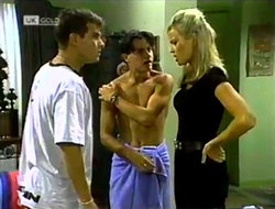 Mark Gottlieb, Rick Alessi, Annalise Hartman in Neighbours Episode 2113