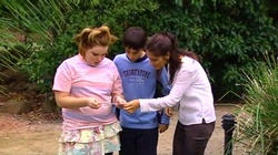 Bree Timmins, Zeke Kinski, Rachel Kinski in Neighbours Episode 4805