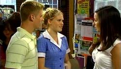 Boyd Hoyland, Janae Timmins, Sasha Hennessy in Neighbours Episode 4939