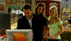 Paul Robinson, Dylan Timmins, Elle Robinson in Neighbours Episode 4943