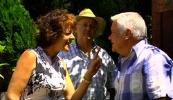Mishka Schneiderova, Harold Bishop, Lou Carpenter in Neighbours Episode 4971